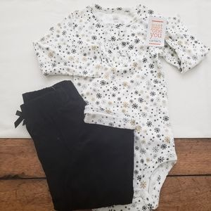 NWT ❄Carters two piece❄ Snowflake Set